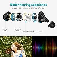 Wireless Earbuds,3D Stereo Sound Deep Bass True Wireless Mini in-Ear Earbuds Sports Bluetooth Headphones Earphones Earbud Sweat Proof Headset Built-in Microphone iOS Mac Android (Black) by MallStory