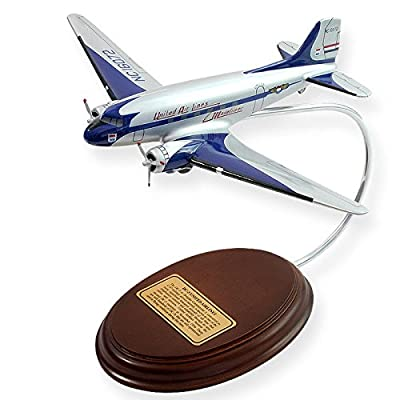 Mastercraft Collection DC-3 United Wood Model Aircraft