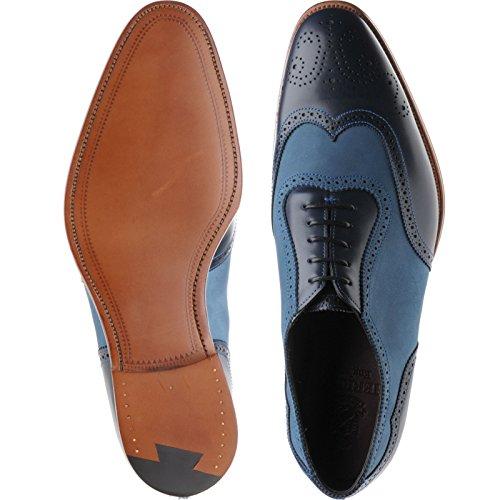 Herring  Herring Henry Ii, Chaussures de ville à lacets pour homme bleu Blue Calf and Nubuck