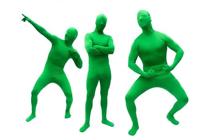 Goods & Gadgets GmbH Hautenger Ganzkörper Body Suit Green Man Anzug Kostüm aus Spandex-Lycra - Small