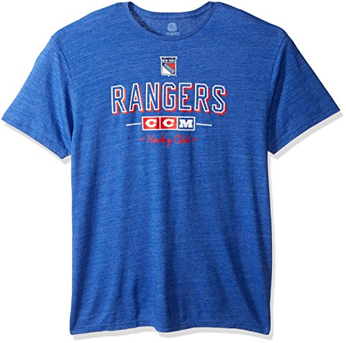 NHL New York Rangers Men s Attacking Zone Tri-Blend Short Sleeve Tee 60d2f6a8e