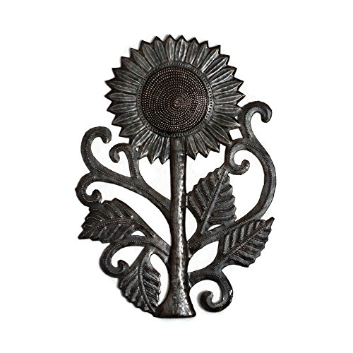 Garden Sunflower, Recycled Metal Art, Handcrafted in Haiti 8