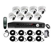 STOiC Tech 8 Channel HD 1080P Surveillance DVR System with 8 IR Cameras