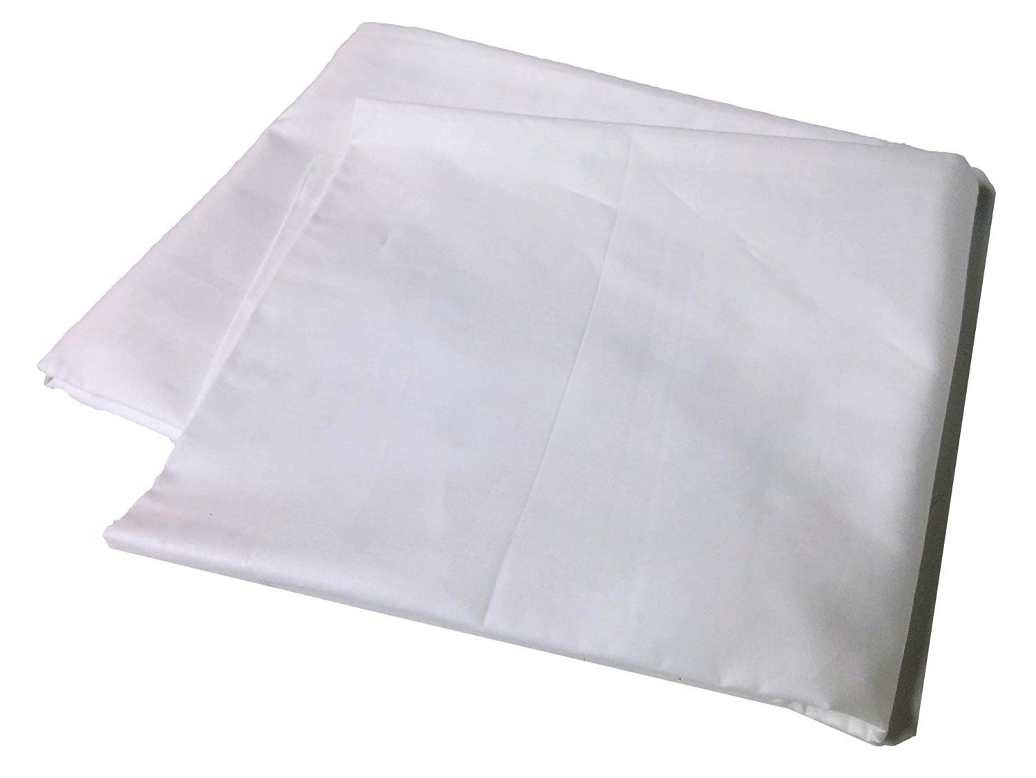 Body Pillow Cover Pillowcase, 400 Thread Count, 100% Cotton, 20 x 54 Non-zippered Enclosure, 6 Colors Available (White)