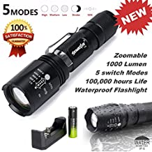 Mokao G700 X800 ShadowHawk CREE XM-L T6 LED Flashlight Led Tactical Zoom