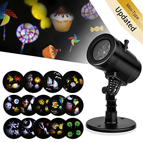 New 2017 Christmas Light Projector, LED Projector Lights 14 Switchable Patterns Indoor and Out