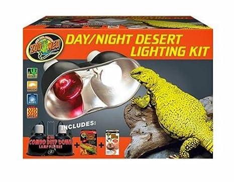 Amazon.com: Zoo Med Day/Night Desert Kit de iluminación ...