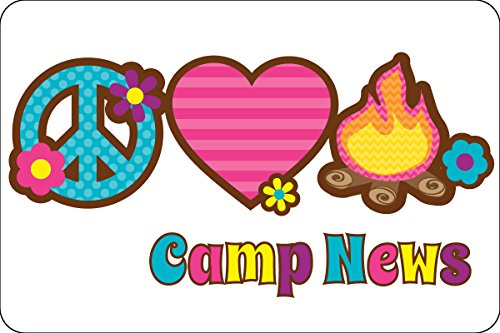 "Peace Love Camp Postcards | Kid Postcards | Camp Stationery | 6"" X 4"" Postcards for Kids"