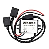 GEREE Waterproof DC DC Converter Module 8-50V to 5V Double USB Output