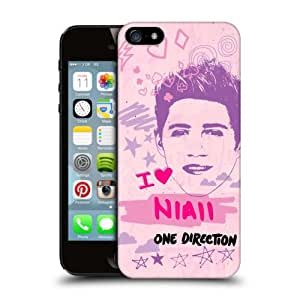 Official One Direction 1D Niall Horan Pink Graphic Faces Hard Back Case Cover for Apple iPhone 5 5s