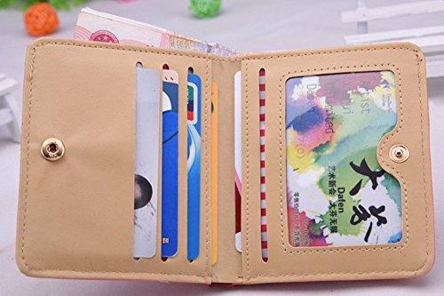 avec Femme PU monnaie en Parapluie motif Portefeuille Porte Carte Nubuck violet Cuir Zip étui courte bleu Qingsun Bouton Sac Main à aqg8da