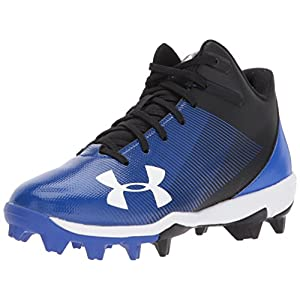 Under Armour Boys' Leadoff Mid RM Jr, Black/Team Royal, 12K M US Little Kid
