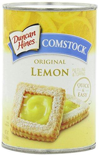 Comstock Original Pie Filling & Topping, Lemon, 15.75 Ounce - Lemon Pie Filling