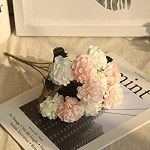 MZjJPN Simulation Ball Chrysanthemum Small Bunch DIY Wedding Bridal Bouquet Home Furnishing Table Decoration Fake Flower Birthday Gift,9 106