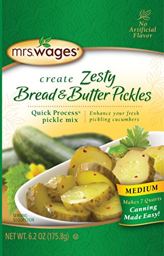 Mrs. Wages Zesty Pickle Mix, Zesty Bread and Butter, 6.2 Ounce (Pack of 12)