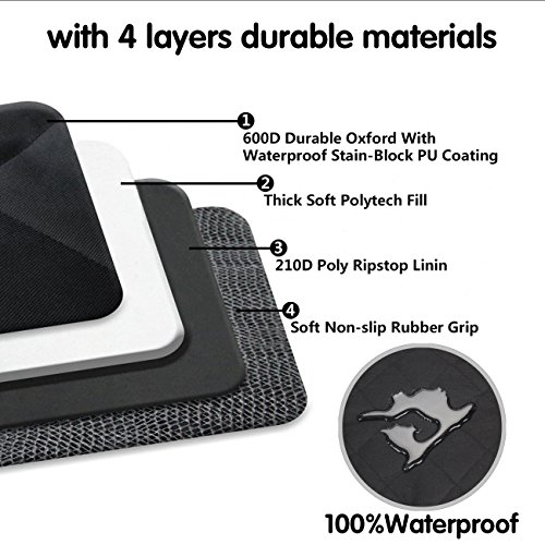 Babyltrl Dog Seat Covers, Pet Car Seat Cover with Mesh Window, Waterproof & Nonslip Hammock Convertible, Scratch Proof Side Flaps Machine Washable Back Seat Cover for Cars Trucks and SUVS by Babyltrl (Image #4)