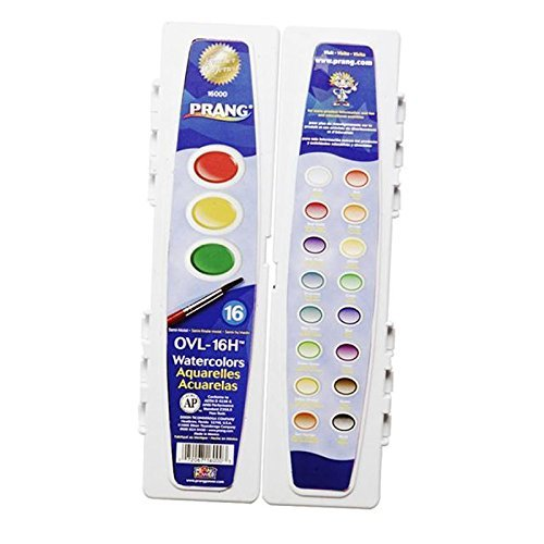 Prang Watercolor Paint Cakes 16/Pkg-Assorted Colors
