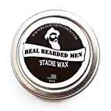 Mustache Wax (Sage Scent) – 1 oz Stache Wax – Real Bearded Men All Natural 100% Made in USA Review