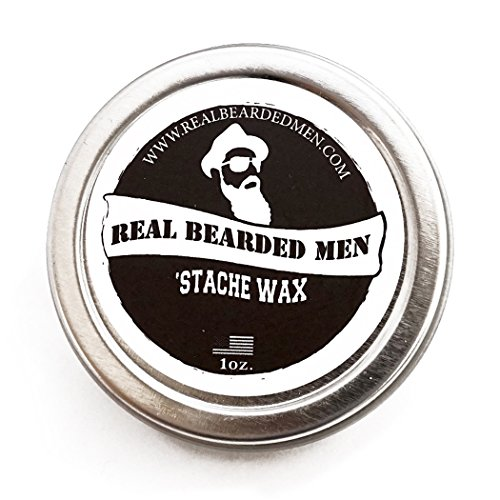 Mustache Wax (Sage Scent) – 1 oz Stache Wax – Real Bearded Men All Natural 100% Made in USA