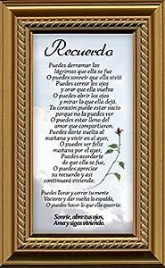 Amazon Com Spanish Sympathy Female Poem Frame 4 5 Quot X 7