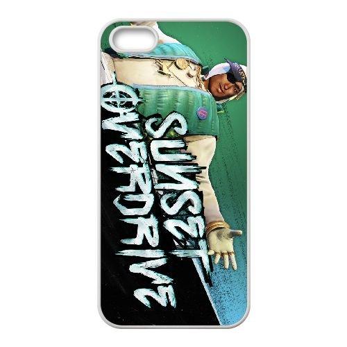 Sunset Overdrive 7 coque iPhone 5 5s cellulaire cas coque de téléphone cas blanche couverture de téléphone portable EEECBCAAN06061