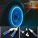 Generic 2x LED Neon Car Bike BMX Wheel Spoke Tyre Valve Dust Cap Safety Light - Blue