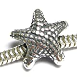 Sterling Silver Starfish Focal Bead Charm for European Charm Bracelets