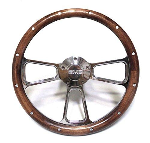 1970-1973 GMC Pick Up Trucks Mahogany & Chrome Steering Wheel + Adapter Kit