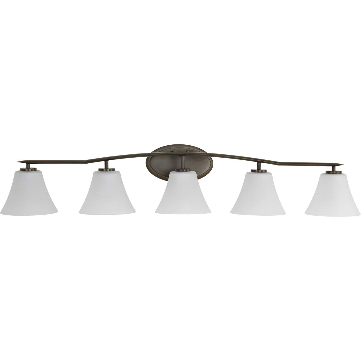 Progress Lighting P2016-20W Contemporary Soft 5-100W Med Bath Bracket, Antique Bronze