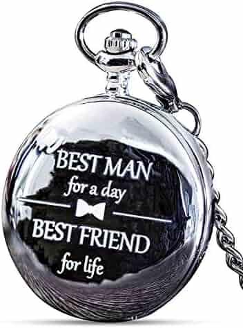 Best Man Gift for Wedding or Proposal - Engraved Best Man Pocket Watch - Luxury Wedding Gift