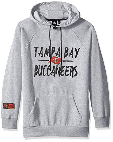 NFL Tampa Bay Buccaneers Women's Fleece Hoodie Pullover Sweatshirt Tie Neck, Medium, Heather Gray]()