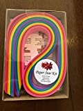 Paper Star Kit~ 3/4 inch 100 Strips Rainbow Paper w Instructions