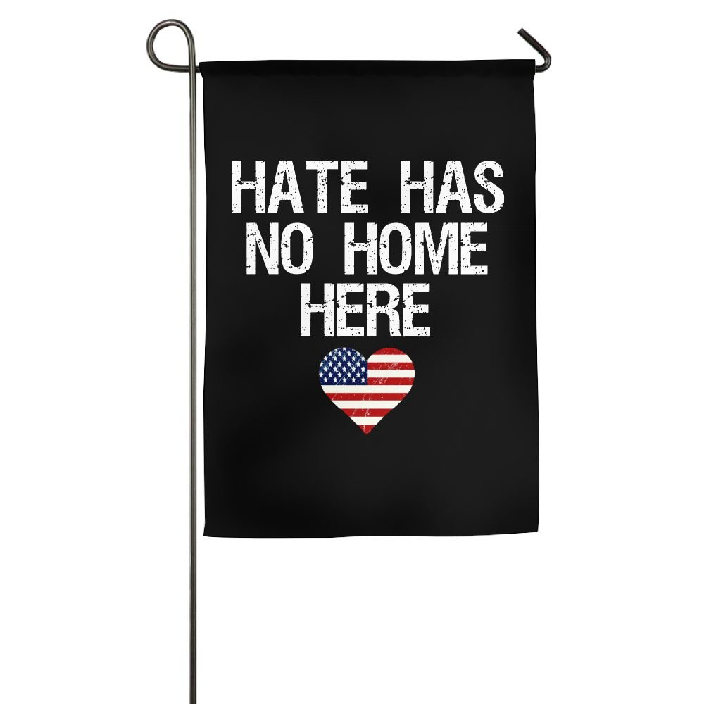 AERYUHPP Hate Has No Home Here 5 - Garden Flag Garden Decor Decorative Flags Holiday Flag