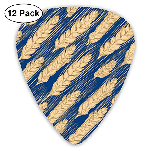 Wheat In The North Small Medium Large 0.46 0.73 0.96mm Mini Flex Assortment Plastic Top Classic Rock Electric Acoustic Guitar Pick Accessories Variety Pack