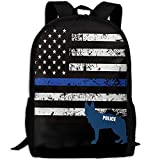 American Police Dog Unique Outdoor Shoulders Bag Fabric Backpack Multipurpose Daypacks For Adult