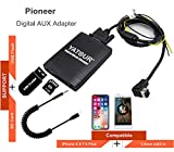 Stereo AUX Adapter, Digital Car Audio Input Interface with SD Card, MP3 USB, 3.5mm AUX in, Music Player for Pioneer Head Units DEH-P900 KEH-P6200-W MEH-P055 DEH-88(M06-PION)