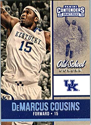 2016-17 Panini Contenders Draft Picks Old School Colors #7 DeMarcus Cousins Kentucky Wildcats Basketball Card in Protective Screwdown Display Case