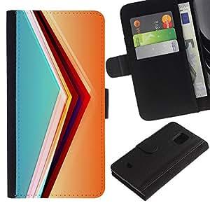 All Phone Most Case / Oferta Especial Cáscara Funda de cuero Monedero Cubierta de proteccion Caso / Wallet Case for Samsung Galaxy S5 Mini, SM-G800 // svet cvet linii ugol obem