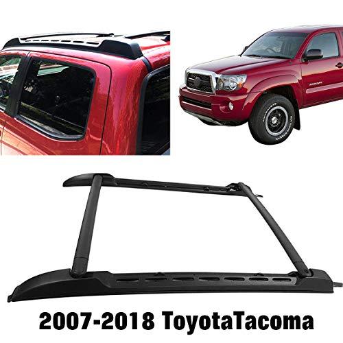 (Black Roof Rack Rail Fits 2007-2018 Toyota Tacoma Aluminium Cross Bar)