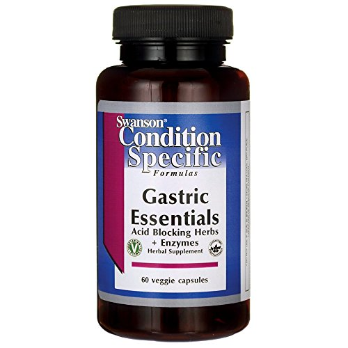 Enzymes Capsules Essential 60 - Swanson Gastric Essentials 60 Veg Capsules Enzyme