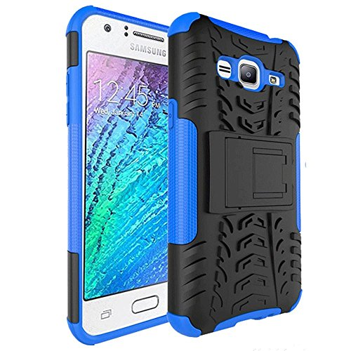 Galaxy J3V Case, J3 Case, J36V Case, Skmy Military Tires Leather and Kickstand with Shockproof and Anti-Scratch and Non-Slip Case for Samsung Galaxy J3 / J3 V, Galaxy Sol/Sky, Express Prime(Blue)