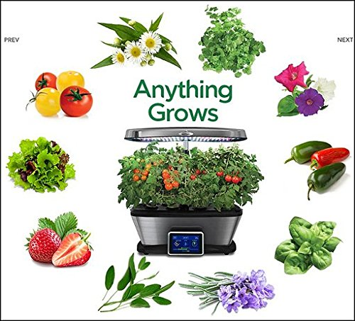 Aerogarden Bounty Elite Wi-Fi Stainless Steel Indoor Garden with Cherry Tomato Kit by AeroGrow (Image #7)