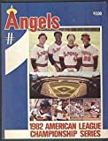 1982 ALCS Program California Angels Milwaukee Brewers Jackson Carew Lynn