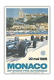 24th Monaco Car Racing GP) - 22. Mai 1966 (May 22nd 1966) - Circuit de Monaco, Monte Carlo - Formula One - Vintage Advertising Poster by Michael Turner 1966 - Master Art Print - 13in x 19in