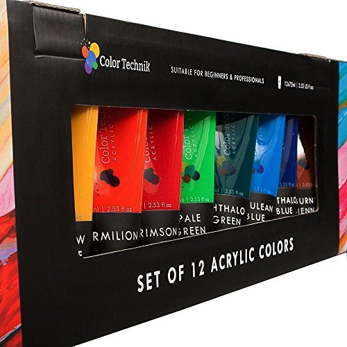 acrylic-paint12x75ml-extra-large-set-by-color-technik-premium-quality-for-artist-beginners-best-colo