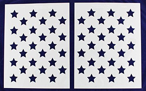 50 Star Field Stencil 14 Mil -22.5