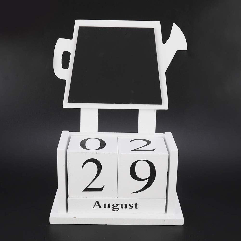 Wooden Desk Calendar Wooden Block Calendar for Home and Office Desk Decor Desk Top Eternal Calender Blocks