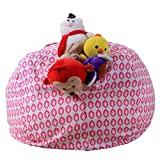 Software : Todaies-Hot Sale,Kids Stuffed Animal Plush Toy Storage Bean Bag Soft Pouch Stripe Fabric Chair 2018 (I, Multicolor)