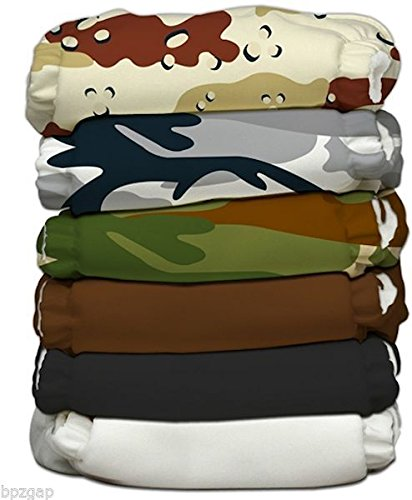 Charlie Banana 2-in-1 Reusable Diapers, Boot Camp