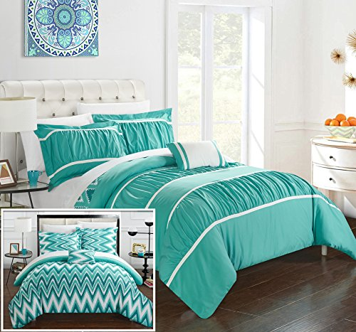 Turquoise And Black Bed In A Bag - 6
